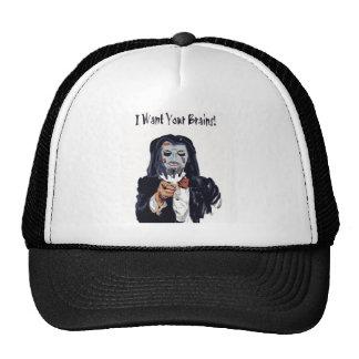 I want your brain Zombie Cap