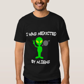 I WAS ABDUCTED BY ALIENS DARK TEE