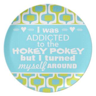 I was Addicted to the Hokey Pokey Party Plates