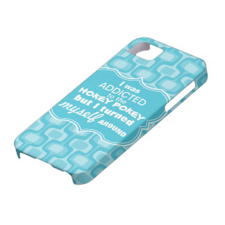 I was Addicted to the Hokey Pokey Retro Pattern iPhone 5 Covers