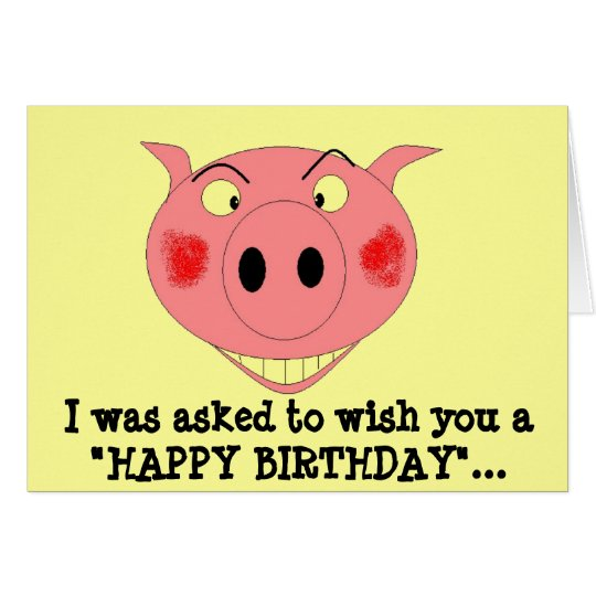 """I was asked to wish you a """"HAPPY ... Card"""