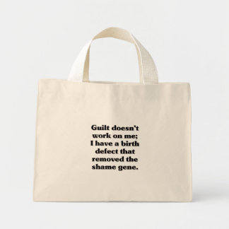 I was born guilt free mini tote bag
