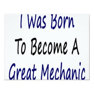 I Was Born To Become A Great Mechanic Custom Invitation