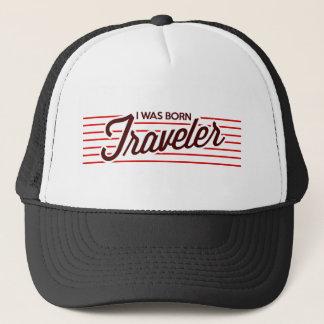 I was Born Traveler Trucker Hat