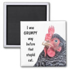 I was GRUMPY Way Before the Stupid Cat. Magnet