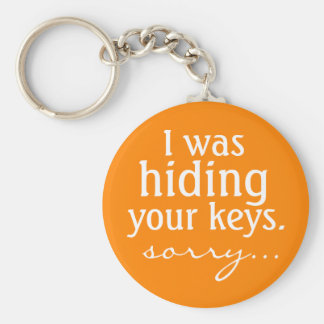 I was hiding your keys, sorry... basic round button key ring