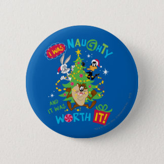 I Was Naughty 6 Cm Round Badge