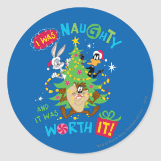 I Was Naughty Classic Round Sticker