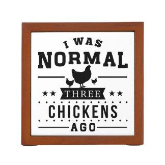 I Was Normal Three Chickens Ago Desk Organiser