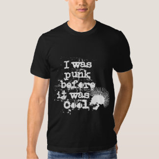 I was punk before it was cool t-shirt