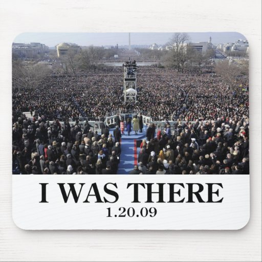 I WAS THERE: Crowd at Inauguration during Ceremony Mouse Mats