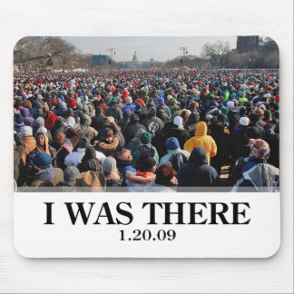 I WAS THERE: Crowd at Obama Inauguration Mouse Mat