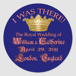 I Was There Royal Wedding Memorabilia Stickers