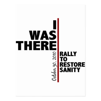I was there sanity rally postcard