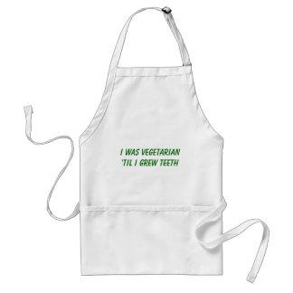 I was vegetarian 'til I grew TEETH Standard Apron