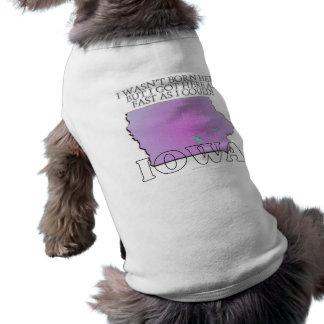 I wasn't born here...Iowa Sleeveless Dog Shirt