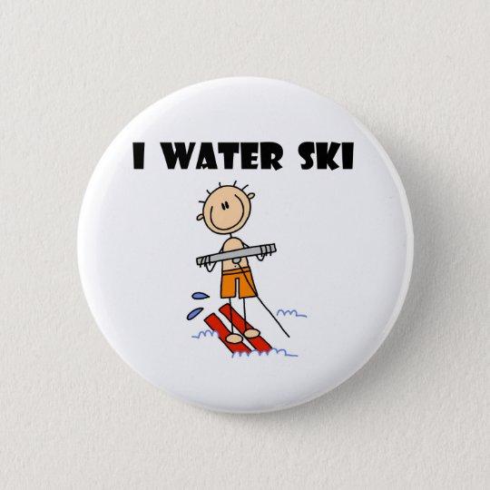 I Water Ski 6 Cm Round Badge