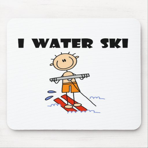 I Water Ski  Mouse Mats