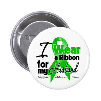 I Wear a Green Ribbon For My Husband 6 Cm Round Badge
