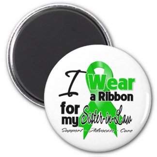 I Wear a Green Ribbon For My Sister-in-Law 6 Cm Round Magnet