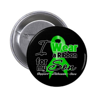 I Wear a Green Ribbon For My Son 6 Cm Round Badge