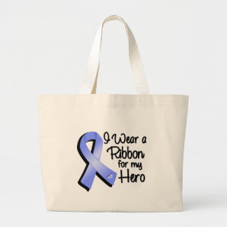 I Wear a Periwinkle Ribbon For My Hero Jumbo Tote Bag