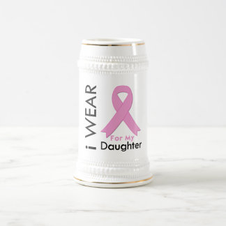 I Wear a Pink Ribbon For My Daughter Mugs