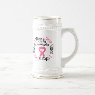 I Wear a Pink Ribbon For My Granddaughter Mug