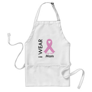 I Wear a Pink Ribbon For My Mom Apron
