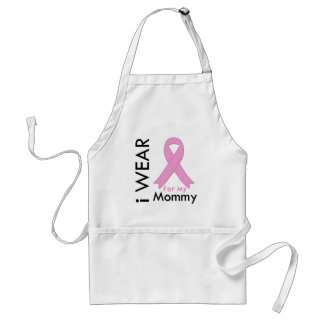I Wear a Pink Ribbon For My Mommy Apron