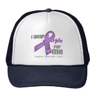 I Wear a Purple Ribbon For Me Mesh Hats