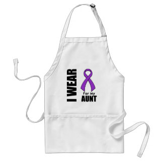 I Wear a Purple Ribbon For My Aunt Adult Apron