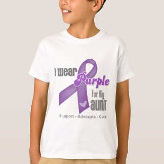 I Wear a Purple Ribbon For My Aunt T-Shirt