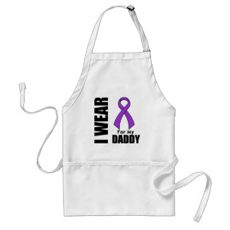 I Wear a Purple Ribbon For My Daddy Standard Apron