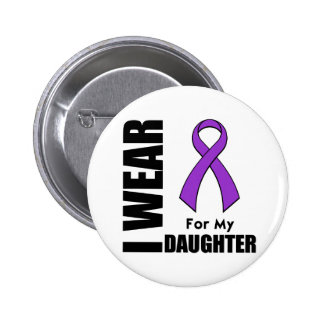 I Wear a Purple Ribbon For My Daughter 6 Cm Round Badge