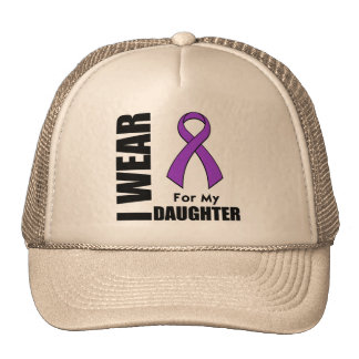 I Wear a Purple Ribbon For My Daughter Cap