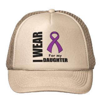 I Wear a Purple Ribbon For My Daughter Trucker Hat