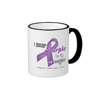 I Wear a Purple Ribbon For My Daughter Mugs
