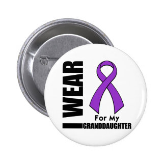 I Wear a Purple Ribbon For My Granddaughter Buttons