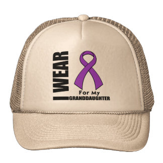 I Wear a Purple Ribbon For My Granddaughter Hats