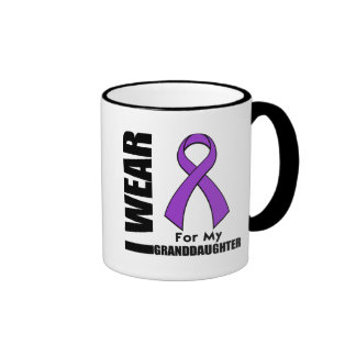 I Wear a Purple Ribbon For My Granddaughter Mugs