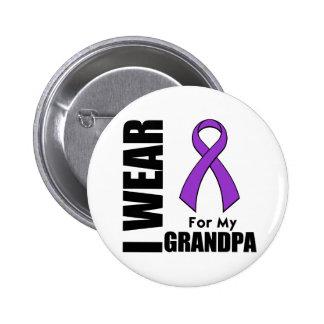 I Wear a Purple Ribbon For My Grandpa 6 Cm Round Badge