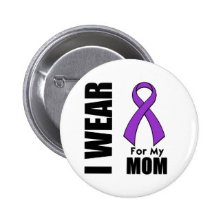 I Wear a Purple Ribbon For My Mom Buttons