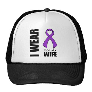 I Wear a Purple Ribbon For My Wife Hats