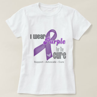 I Wear a Purple Ribbon For The Cure T-Shirt