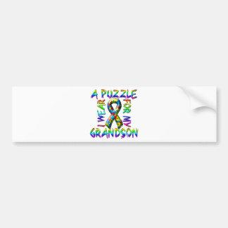 I Wear a Puzzle for my Grandson Bumper Sticker