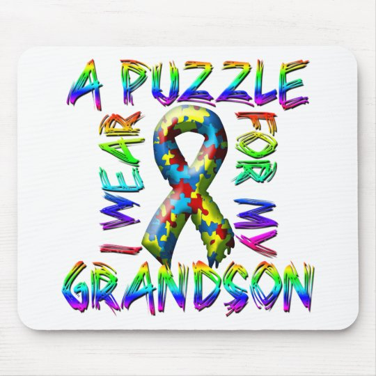 I Wear a Puzzle for my Grandson Mouse Mat
