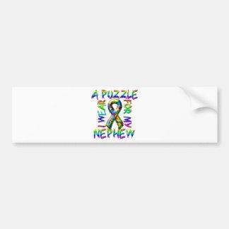 I Wear A Puzzle for my Nephew Bumper Sticker