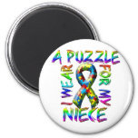 I Wear a Puzzle for my Niece Refrigerator Magnet