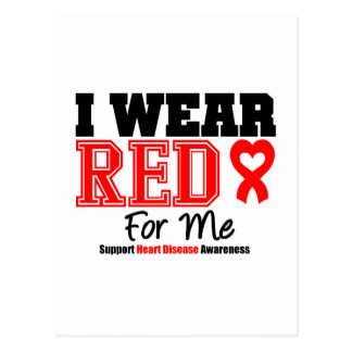 I Wear a Red Ribbon For Me Post Card